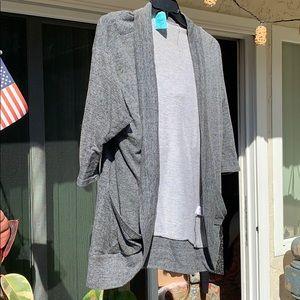 H.i.p. Cardigan in blackish grey size L